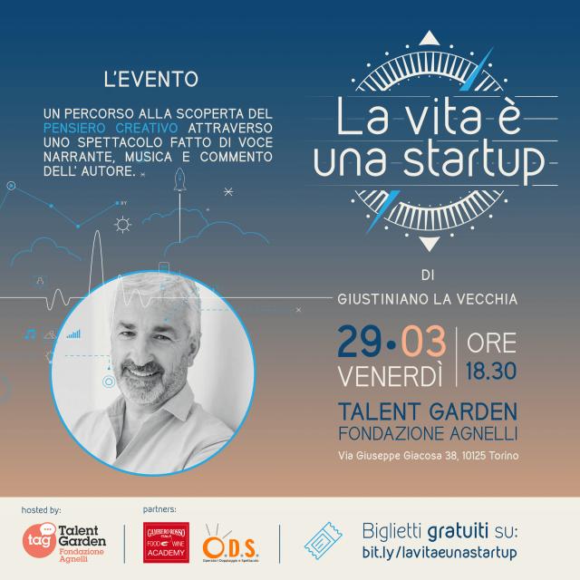 invito evento La vita è una startup